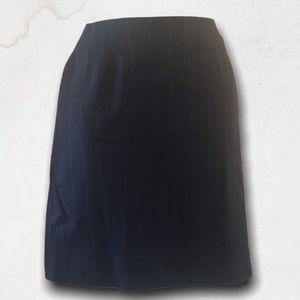 RALPH LAUREN 100% Wool Dark Blue Skirt